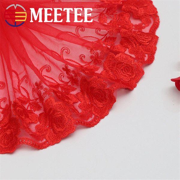 Meetee Net Wed Lace Requintado Fio Net Net Bordado Vestuário Handmade Diy Saia Acessórios 20 cm