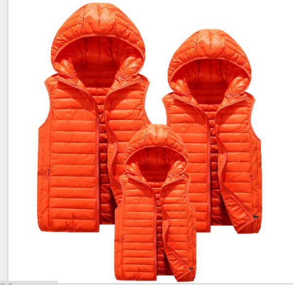 2018 new best seller 6 color light down jacket, child vest, children's couple, vest, leisure vest, cotton clothes.