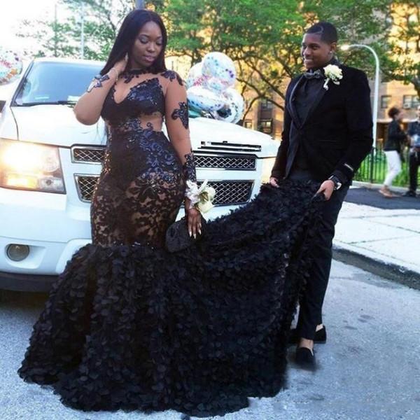 Großhandel Sexy Afrikanisches Schwarzes Mädchen Abschlussball Kleid ...