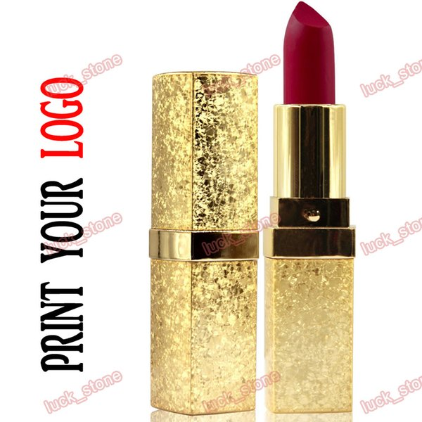 24 color matt lipstick matte rouge non-stick cup long lasting water-proof without logo accept customized lip gloss