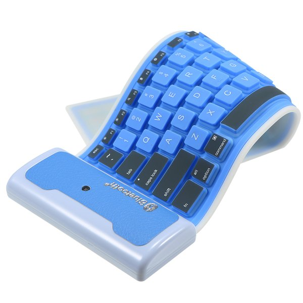 Masaüstü Dizüstü Tablet Cep telefonu için Katlanabilir ve Taşınabilir toz geçirmez Su geçirmez Klavye 85 Keys Ultra İnce BT Mini Klavye