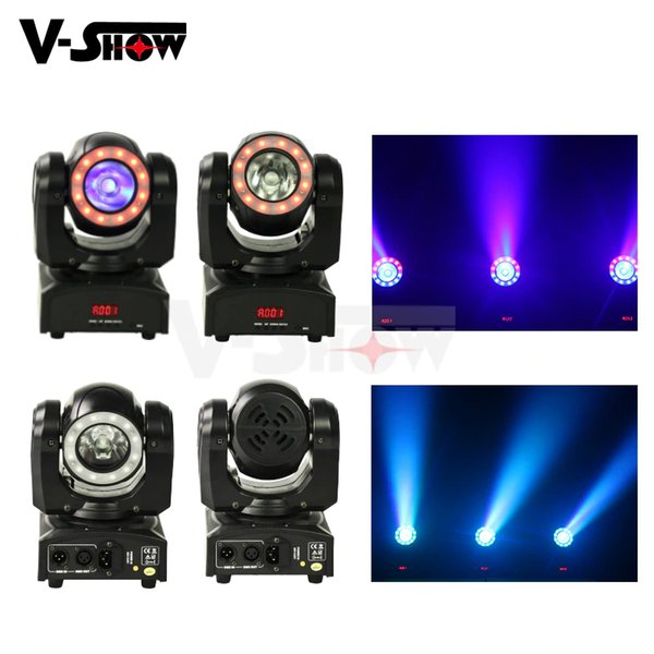 4pcs Mini 60W Moving Head Light With Halo Effect Beam Led Stage Lighting RGBW 4in1 Dmx Dj Light For Events Bar Church