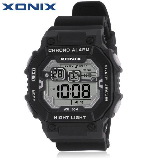 ¡¡¡Caliente!!! XONIX Moda Deportes LED Relojes Impermeables 100m Hombres Diversión al aire libre Multifunción Reloj Digital Natación Buceo Reloj de pulsera