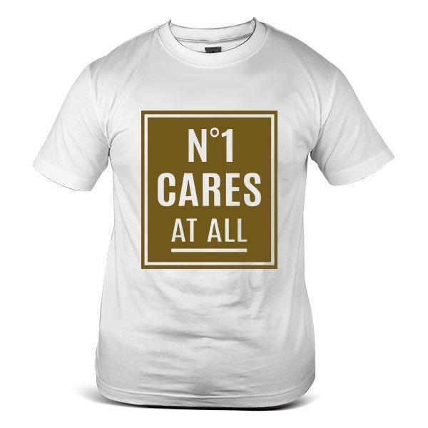 4476-WH Gold Homies N * 1 Cares At All Street Wear Parody Dope camiseta blanca para hombre