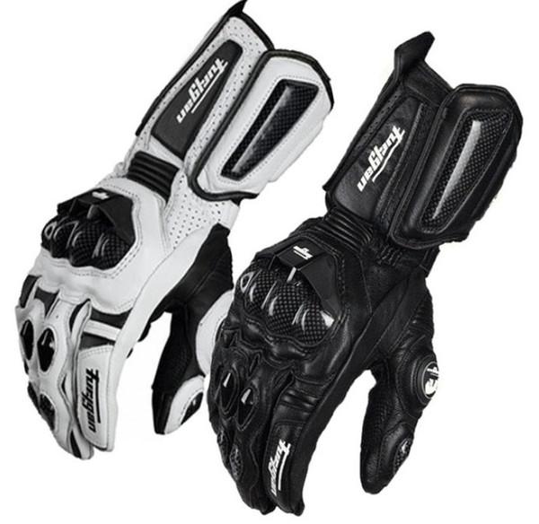 Alta calidad Furygan AFS10 Guantes de moto de equitación Moto Racing Guantes de carretera Moto de cuero de protección Ciclismo