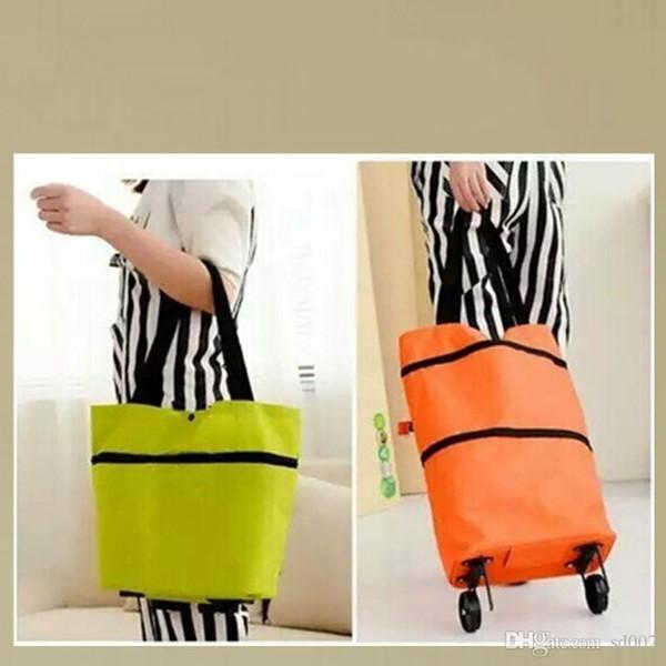 Folding Roller Shopping Bag Multi Function High Capacity Tote Handbag Tug Dual Use Storage Bags With Wheel Rolling Design 5 7hj ZZ