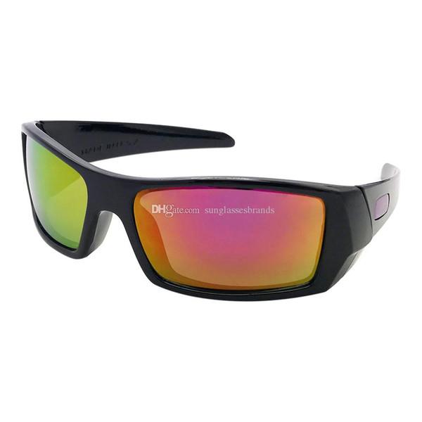 32 Gas cans Luxury Design Sunglasses 12-891 Fashion Sports Brand Eyewear BrightBlack/ Purple Mercury IRIDIUM Mirror Lens Free Shipping OK60