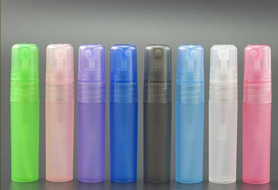 best selling Wholesale ! 3ml 5ml 8ml 10ml plastic frosted perfume atomizer, spray bottle, perfume bottle Free shipping