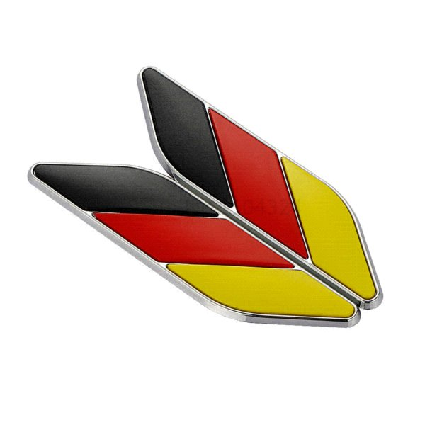 Car Styling ABS 3D Germany Flag Leaf Side Fender Emblem Stickers For BMW Volkswagen VW Skoda Mercedes Audi Auto Car Accessories