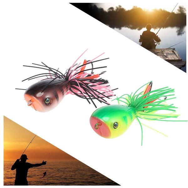 Artificial 3D Frog Lure Hard Fishing Bait with a double layers design and ABS plastic is adopted, durable and portable
