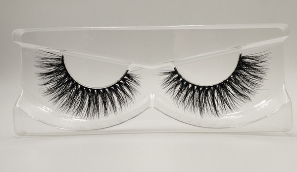 3D Mink False Eyelashes 100% Mink Fur Long Thick Hand-made Reusable Eyelashes Natural Makeup for women MTL006