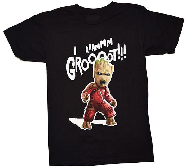 2018 Summer Fashion Men O - Neck T Shirt Vol. 2 I Am Groot! Ravager T Shirt