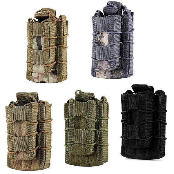 EDC MOLLE tactique Open Top Double Decker Single Rifle Pistol Mag Poche Magazine Magazine, randonnée en plein air sac de taille sac à outils