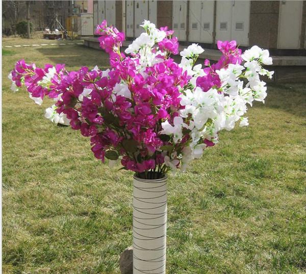best selling Artificial flowers big Cherry blossom 46Inch  120 cm long Bougainvillea speetabilis can be used to decorative wedding garden and mall SF011