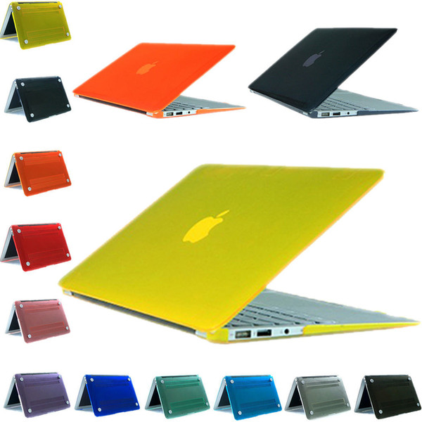 New Plastic Crystal Clear Hard Case Cover For Apple Macbook Air Pro Retina 11.6 12 13.3 15.4 inch Touch Bar laptop Cases For Macbook bag