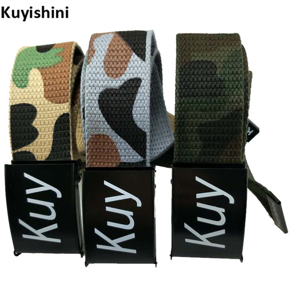 Fashion Unisex Mens Camo Army Military Tactical Belt Adjustable Belts Camouflage Metal Snap Fastener Student Fashion Canvas Belt