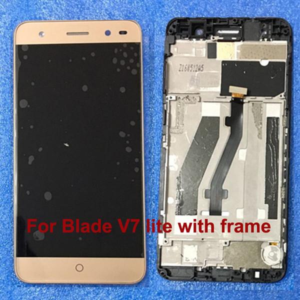 Nuovo per display LCD ZTE Blade V7 Lite Display + touch screen di ricambio per ZTE V7 Lite Phone Lente sensore di vetro con cornice