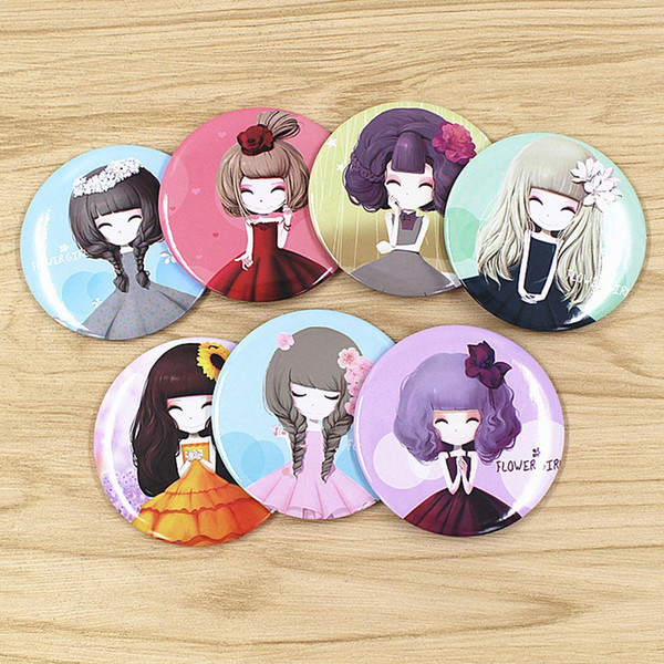 Girl mini pocket makeup mirror cosmetic compact mirrors home decor mirror random send