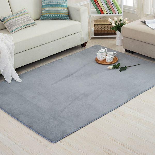 Rectangle Simple Modern Children\'S Bedroom Carpet Living Room Bedroom  Bedside Tatami Coral Plush Study Computer Desk Carpet High End Carpet  Brands ...