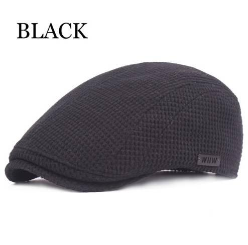 162b7528334 Brand Autumn Winter Caps for Men Casual Cotton Berets British Style  Advanced Flat Cap Classic Beret