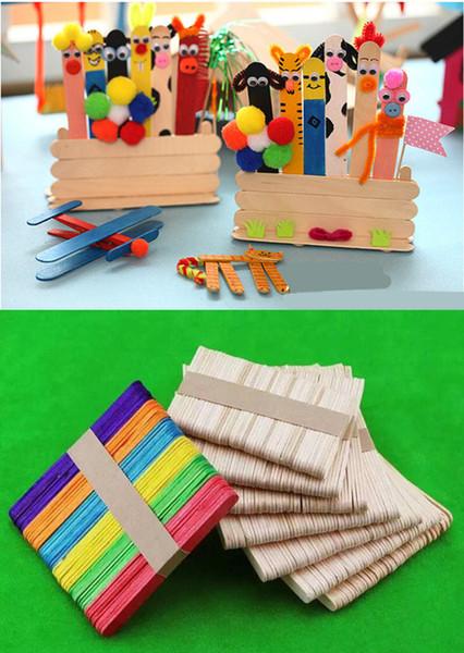 500 adet DIY Orijinal Kereste Craft Sticks Popsicle Sticks Dondurma Çubukları Ahşap Parti Süslemeleri