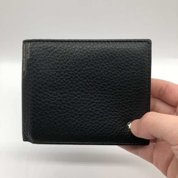 2018 New Luxury M B Hot Leather Men's Business Short Wallet MT Purse Cardholder Wallet MB Upscale Gift Box Credit Card Holder