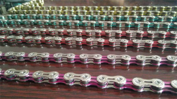 Full hollow 10 Speed Chain 116 Knots Mountain Road Bicycle MTB Bike Chains 30 Speed Chain Blue Red Pink Color Fast Shipping