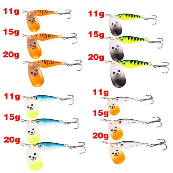 New VIB Fish Metal Spinner lure Spoons Bait 11g 15g 20g Rotate Jigs Spinnerbaits Freshwater fishing bait hooks