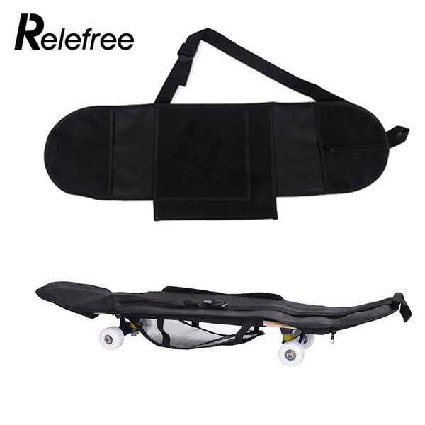 Longboard Skateboard Backpack Durable Black Adjustable Band Skating Carry Case Bag Outdoor Skate Bag Non Woven Fabric