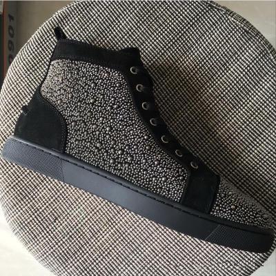 Diseñador de calidad superior Bottoms rojos zapatillas de deporte tachonadas Spikes zapatos de los planos Diseñador de lujo fondos rojos para hombres mujeres my18903