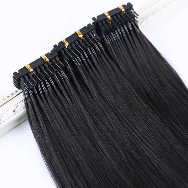 Extensão do cabelo humano do ELIBESS Hair-6D 1g / s 100strands / lot Cabelo humano 6D da onda reta
