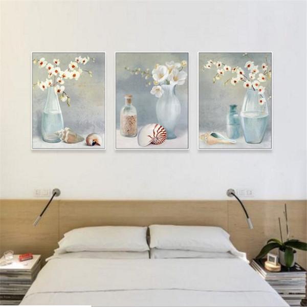 2018 Arte de la pared lienzo pintura al óleo flores para colorear por números cuadros de la pared para sala de estar decoración para el hogar cuadros decoracion #FS