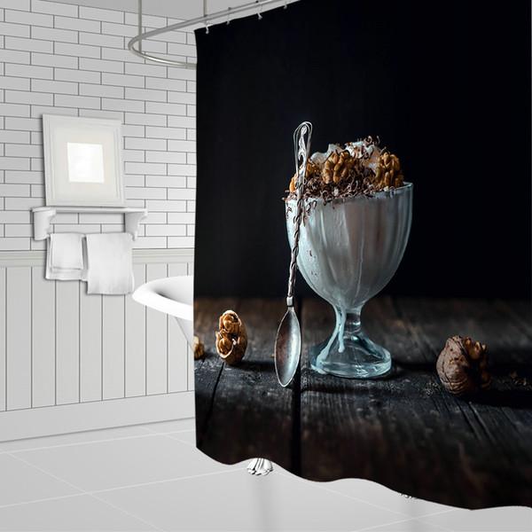 Acheter Meilleur Vendeur Noyer Dessert Rideaux De Douche 69 X 70 Pouce  Polyester Étanche Salle De Bains Décor Fournitures Accessoires Rideau  Suspendu ...