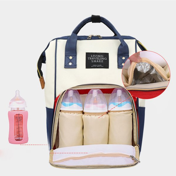 Fashion Mummy Backpacks Oxford Big Backpacks for Mom Maternity Nappy Bag Large Capacity Baby Bags Travel Shoulder Bags for Girls Y18110201