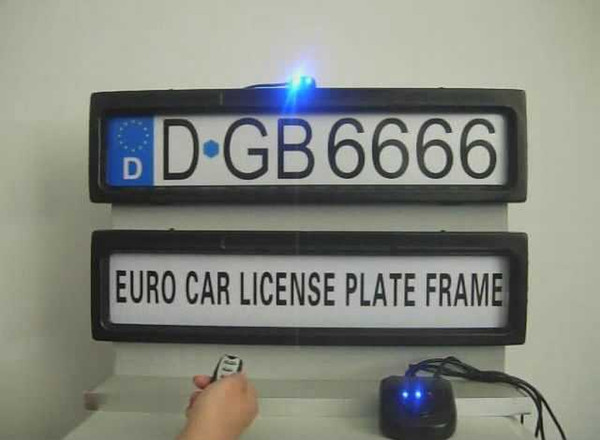 Promtotion product Car License Plate Frame European Remote Control Car Licence Frame Cover/Automatic Plate Privacy(EURO and Russia size)