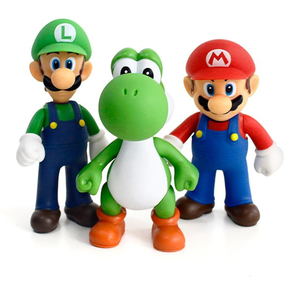 Acheter Mario Luigi Yoshi Super Mario Bros Action Figure Pvc Poupée Pour Enfants De Noël Halloween Meilleurs Cadeaux 12cm De 9 93 Du Mf6888
