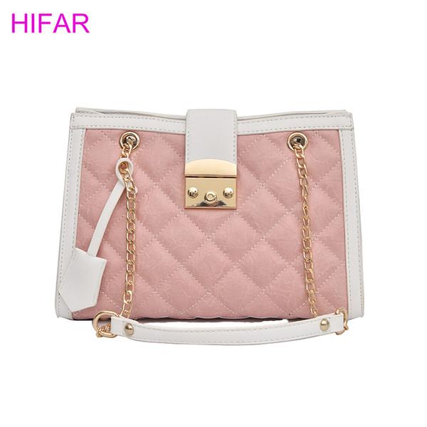European style retro handbags 2018 Fashion New High-quality PU leather Women's Designer Handbag Big Tote bag Chain shoulder bag