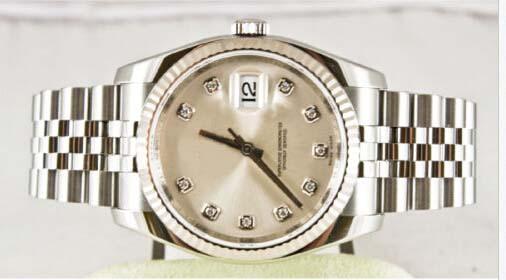 Vente chaude montres de luxe pour hommes bracelet en acier montre en or blanc 18K 116234 36mm automatique montre homme