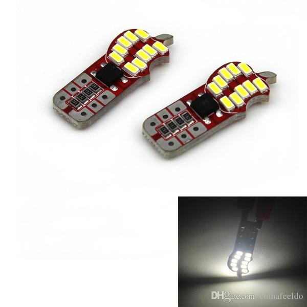LEEWA 50 pcs Branco T10 194 3014SMD 20 Leds LED Car Sided Motores da Lâmpada Que Mostram a Cunha Luzes LED # 5316