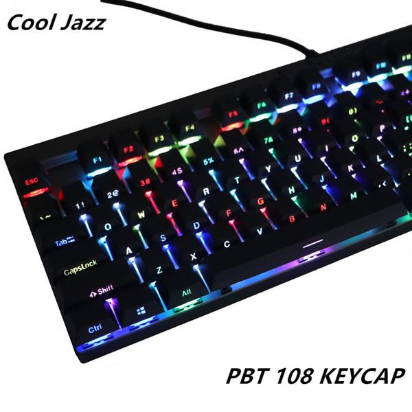 Двойной выстрел Pbt108 боковым освещением блеск через полупрозрачный подсветкой клавиш Вишневый профиль для механической клавиатуры MX переключатель keycap