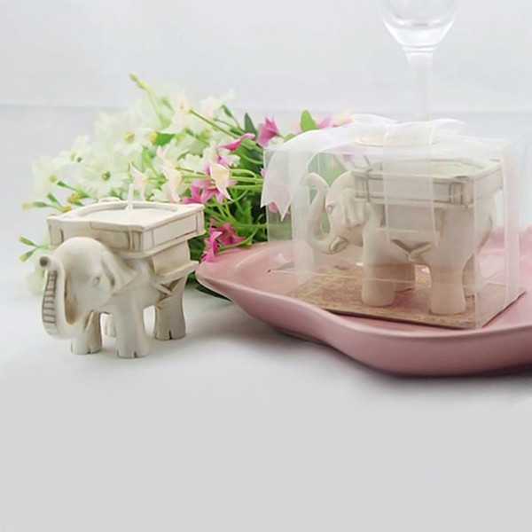 Candle Holder Wedding Favor Home Decor Lucky Elephant Tea Light Candle Holder Resin Candlestick Party favor gift