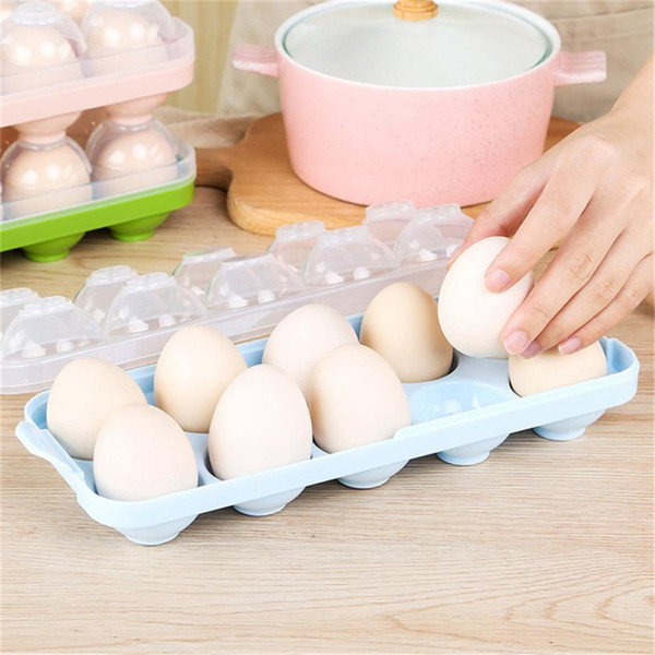 Stackable Egg Storage Holder with Lid Refrigerator Egg Storage Container Cartons Organizer Bin for 10 Eggs Great to Organize Your Fridge