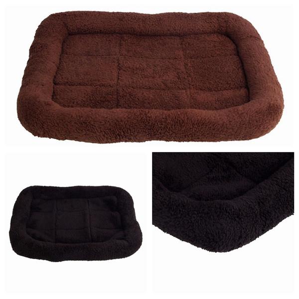 Cómoda cama para perros mascota Gato Puppy Warming House Soft Dog Kennel Cushion Durable Mat Pad para animales domésticos Black Brown