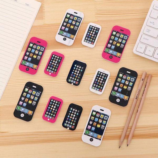 Hot Salt iPhone Mobile Phone Cute Kawaii Mobile Phone Eraser Lovely Colored Eraser For Kids Students Creative Ltem Gift H0179-1