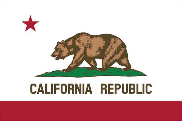 100% Yeni Polyester California State Bayrak 3X5FT Amerikan Amerika Birleşik Devletleri Bayrağı Afiş ile 2 Nikel Grommets