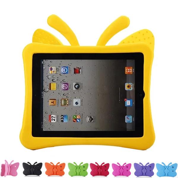 3D Butterfly Kids 'Case para nuevo iPad 2017 2018 air air2 pro 9.7 mini EVA Cubierta de soporte a prueba de golpes con asa apta para niños