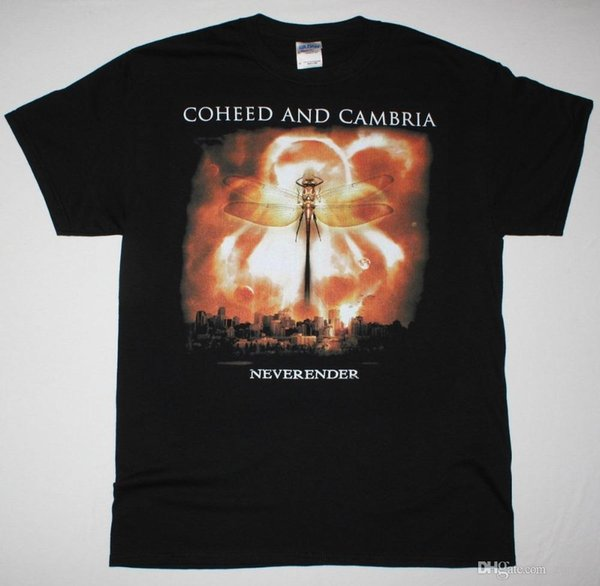 Impression T-shirts Impression courte COHEED ET CAMBRIA NEVERENDER PROGRESSIVE ALTERNATIVE NOUVEAU T-SHIRT NOIR Anime Casual