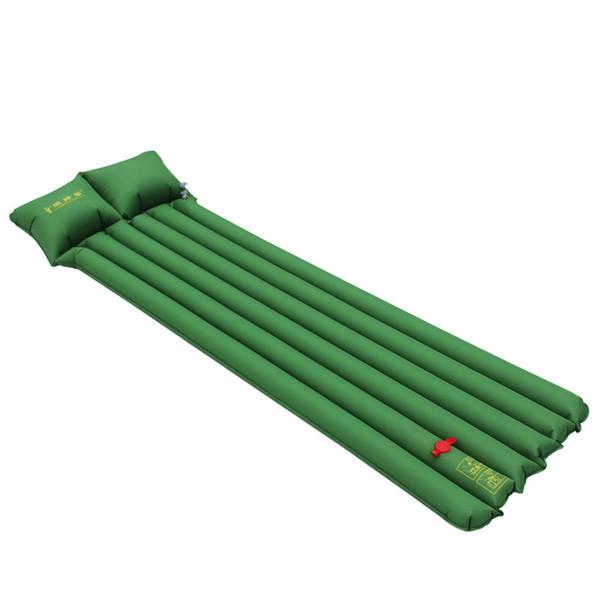 Prensa Inflable Cojín de PVC Colchoneta para acampar ultraligera Colchoneta de aire Al aire libre Patentes para dormir 2Color 950g