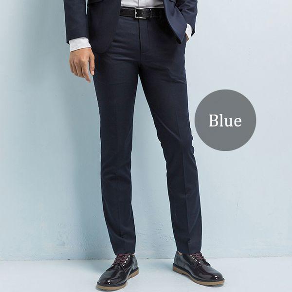 Compre Pantalones De Traje De Hombre Hechos A Medida Pantalones De Sarga De Hombre De Negocios Casuales Pantalón Ajustado Pantalones Para Hombres De