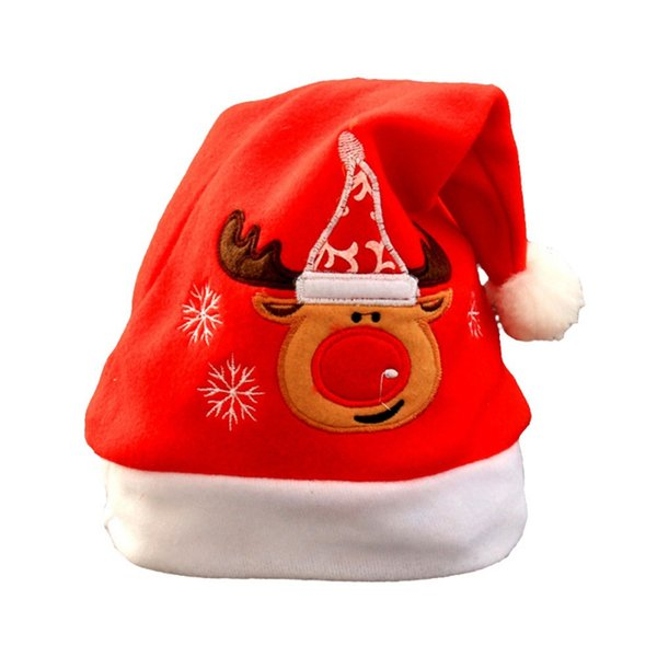 2017 fashion style christmas hat children santa claus reindeer snowman cute hat for party christmas new brand
